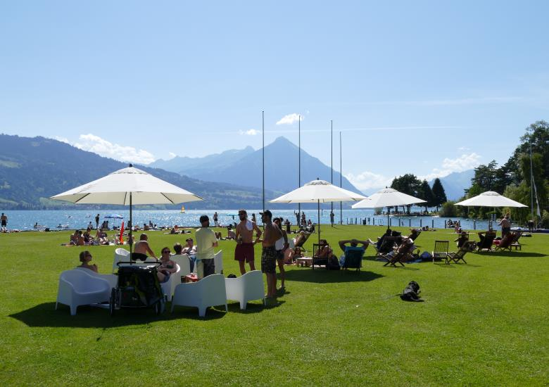 Beach Bar, Hotel Restaurant Neuhaus am See, Unterseen Interlaken Thunersee